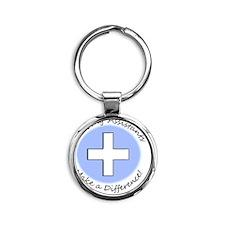 Nursing Assist MAKE A DIFF Round Keychain