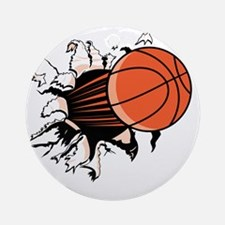 BasketballSC.gif Round Ornament