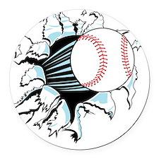 baseball.gif Round Car Magnet
