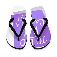 D To Do - Kick Cancers Ass Hodgkins Lym Flip Flops