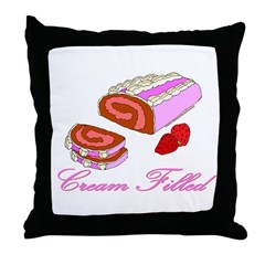 Cream Filled Throw Pillow