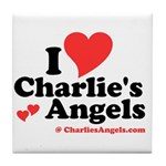 """I heart Charlie's Angels"" Tile Coaster"
