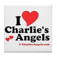 """""""I heart Charlie's Angels"""" Tile Coaster"""