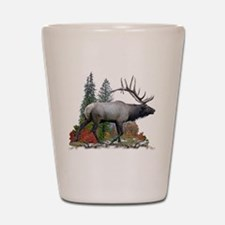 Bull elk r Shot Glass