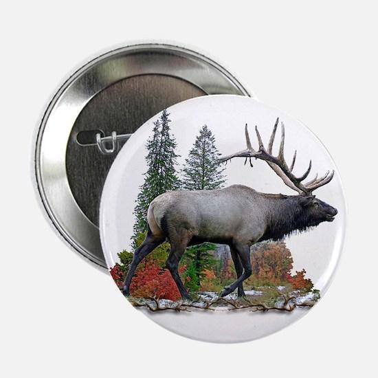 "Bull elk r 2.25"" Button"