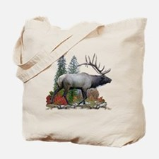 Bull elk r Tote Bag