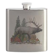 Bull elk r Flask