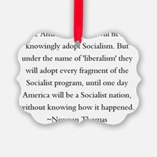 Norman Thomas Quote Ornament