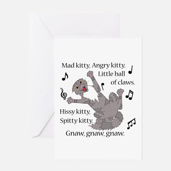 Mad Kitty Angry Kitty Greeting Cards