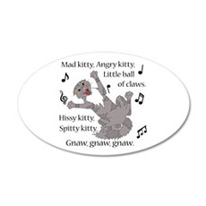 Mad Kitty Angry Kitty Wall Decal