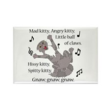 Mad Kitty Angry Kitty Magnets
