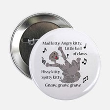 """Mad Kitty Angry Kitty 2.25"""" Button (100 pack)"""