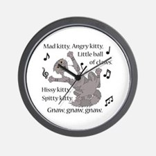 Mad Kitty Angry Kitty Wall Clock