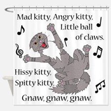 Mad Kitty Angry Kitty Shower Curtain