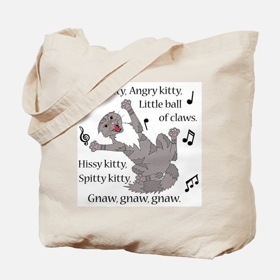 Mad Kitty Angry Kitty Tote Bag