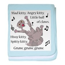 Mad Kitty Angry Kitty baby blanket