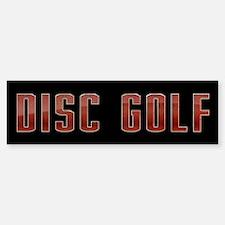 Disc Golf Bumper Bumper Bumper Sticker