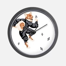 Shiba_Ninja_reusable_shopping_bag Wall Clock