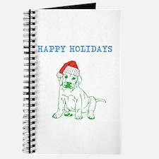 HAPPY HOLIDAYS SANTA DOG. Journal