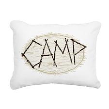 camp Rectangular Canvas Pillow