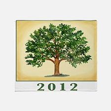 TreeReunion2012Shirt Throw Blanket