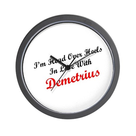 In Love with Demetrius Wall Clock