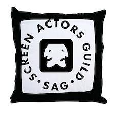 SAG-Logo Throw Pillow