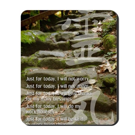 5 STEPS REIKI PRINCIPLES Mousepad