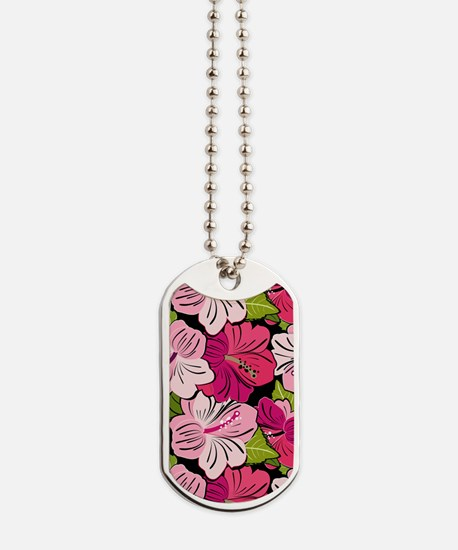 Pink Hibiscus Kindle Cover Dog Tags