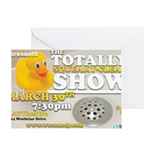 The Totally Squeaky Clean Show - Mar Greeting Card
