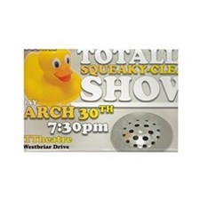 The Totally Squeaky Clean Show -  Rectangle Magnet