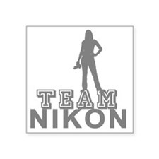 "10x10_apparel.TEAM NIKON.gr Square Sticker 3"" x 3"""