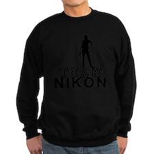 10x10_apparel.TEAM NIKON.blk cop Sweatshirt