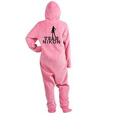 10x10_apparel.TEAM NIKON.blk copy Footed Pajamas