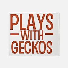 playsgeckos Throw Blanket