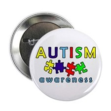 """Autism Awareness Puzzle 2.25"""" Button (10 pack)"""