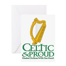 Celtic and Proud Eire Harp 2 Greeting Card