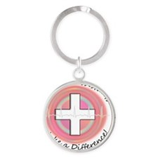 Medical Assistant making a diff PIN Round Keychain