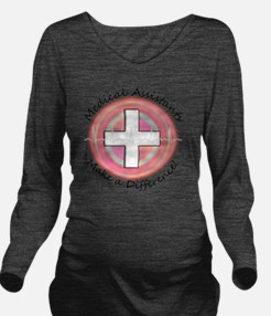 Medical Assistant ma Long Sleeve Maternity T-Shirt