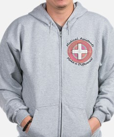 Medical Assistant making a diff PINK RO Zip Hoodie