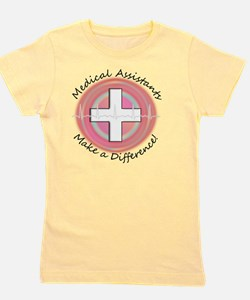Medical Assistant making a diff PINK RO Girl's Tee