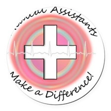 Medical Assistant making a diff P Round Car Magnet