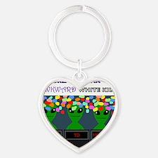 aliens Heart Keychain