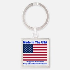 madeinusa_2012a_bluefont_white2012 Square Keychain