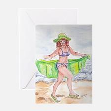 Bertha on Beach Greeting Card