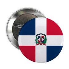 "Dominican Republic flag 2.25"" Button (10 pack)"