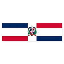 Dominican Republic flag Bumper Bumper Sticker
