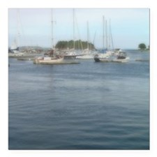 """Camden Maine Note Card Square Car Magnet 3"""" x 3"""""""