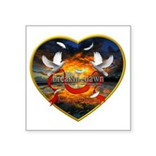 "Breaking Dawn Forever is ju Square Sticker 3"" x 3"""
