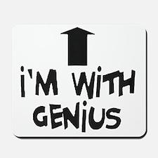 im with genius Mousepad